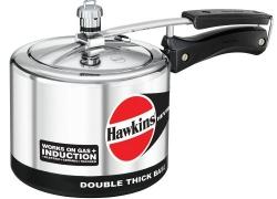 Hawkins Hevibase Aluminium Induction Model Pressure Cooker, 3 Litres, Silver