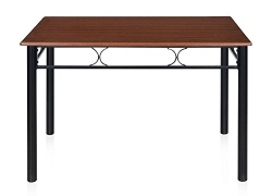 Sidney Four Seater Dining Table (Matte Finish, Black)