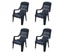 Weekender Garden Set of 4 Chair (Black)