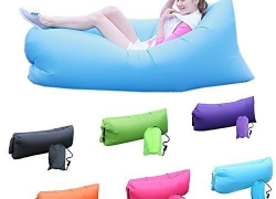 Household Fast Inflatable Portable Hangout Lazy Air Bag Sofa Bed suitable for Camping, Travel, Beach and other Activities Random Colour