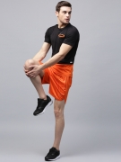 HRX by Hrithik Roshan Men Orange Printed Sports Shorts