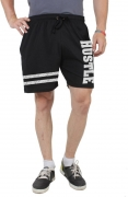 HUSTLE Printed Men's Black Gym Shorts