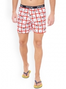 VOC Red & White Printed Boxers SBSH-119