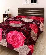 IWS 3D Printed 160 TC Polycotton Single Bedsheet – Floral, Multicolour