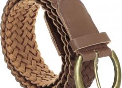 Jainsons Women Casual Brown Texas Leatherite Belt