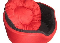 Fluffy's Luxurious Both Side Soft Dog/Cat Bed, Red/Blue (XL)