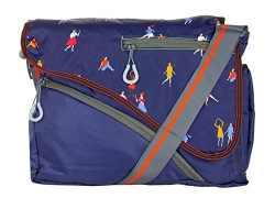 JG Shoppe Men Blue Polyester Sling Bag