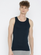 Jockey Men Navy Blue Innerwear Vest FP04-0105