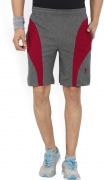 Jockey Solid Men's Red, Grey Sports Shorts