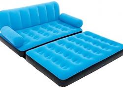 Karmax Bestway Three Seater Sofa cum Bed (Blue)