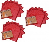 Kuber Industries Designer Single Packing Saree Cover 36 Pcs Combo MKUSCR101  (Red)