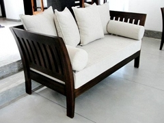 Lifeestyle-Com Sheesham Wood Sofa Set With Cushion Without Covers(3+1+1) / With Out Coffee Table