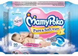 MamyPoko Pure and Soft Wipes-Fragrance  (50 Pieces)