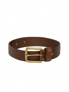 Mast & Harbour Men Brown Solid Leather Belt