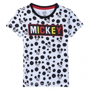 Mickey & Friends Boys Printed Cotton T Shirt  (Grey, Pack of 1)