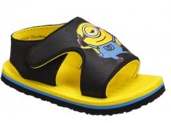 Minions Boys Velcro Sports Sandals  (Black)