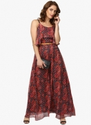 Label Ritu Kumar Multicoloured Printed Maxi Dress