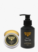 BEARDHOOD Natural Mustache Wax Strong Hold & Beard Spa Oil