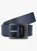 Calvin Klein Jeans Navy Blue Leather Belt