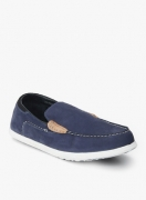 Woodland Navy Blue Loafers
