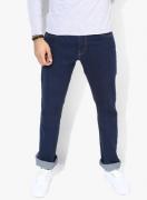 Levi's Navy Blue Solid Regular Fit Jeans