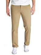 next Men Beige Straight Fit Solid Formal Trousers