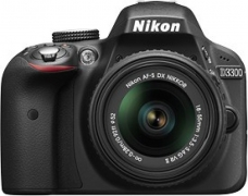 Nikon D3300 DSLR Camera Body with Lens: AF-P 18-55mm VR + AF-P DX NIKKOR 70-300mm f/4.5-6.3G ED VR Kit (16 GB SD Card + Camera Bag)  (Black)