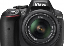 Nikon D5300 DSLR Camera Body with Dual Lens: AF-P DX NIKKOR 18 – 55 mm f/3.5 – 5.6G VR + AF-P DX NIKKOR 70 – 300 mm f/4.5 – 6.3G ED VR (16 GB SD Card + Camera Bag)  (Black)