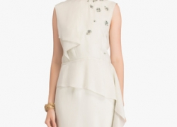 Twelve AM:PM Off White Coloured Embellished Shift Dress