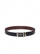 Pacific Gold Men Black & Brown Reversible Leather Belt