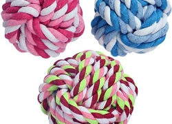Pets Empire Puppy Dog Pet Rope Toys Chew Teeth Cleaning Toy 1 Piece Color May Vary Size Small For Small Puppies