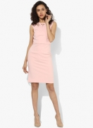 Deal Jeans Pink Solid Bodycon Dress
