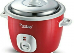 Prestige CUTE 1.8-2 Electric Rice Cooker with Steaming Feature(1.8 L, Red)