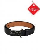 PUMA Men Black Cat Leather Belt