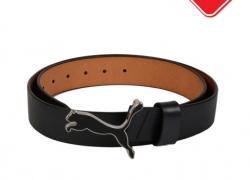 PUMA Men Black Cat Leather Belt