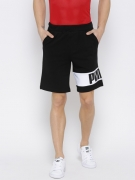 Puma Men Black Rebel Printed Regular Fit Sports Shorts