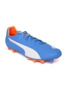 PUMA Men Blue evoSPEED 5.4 FG Printed Football Shoes