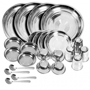 Royal Shappire Stainless Steel Dinner Set 24 Pcs,Silver
