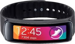 Samsung Gear Fit Charcoal Black Smartwatch  (Black Strap Regular)