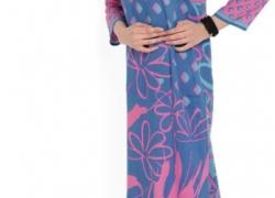 Shree Women Navy & Pink Printed Straight Kurta