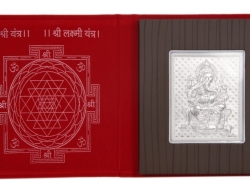 Silverwala 999 Pure Silver Laxmi Photo Frame (6*5) Showpiece – 0.3 cm  (Silver, Silver)