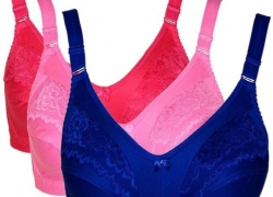 Teeny Bopper Women's Minimizer Non Padded Bra  (Blue, Red, Pink)