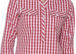 Mayra Women's Checkered Party Red Shirt