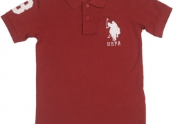 US Polo Kids Boys Solid Cotton T Shirt  (Maroon, Pack of 1)