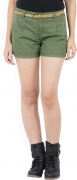 Vero Moda Solid Women's Green Basic Shorts